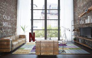 Een industriële woonkamer inrichten