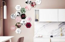 Hexagon figuren met afbeelding of foto
