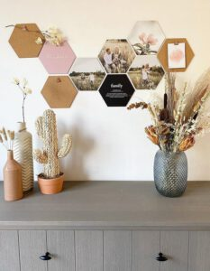 Hexagon foto muur